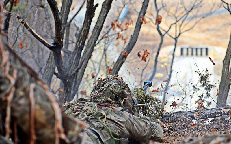 A South Korean-based U.S. soldier conducts live-fire exercises in March in South Korea as part of Pacific Pathways, a multinational training exercise intended to build operational readiness and adaptability of U.S. Army Pacific forces.