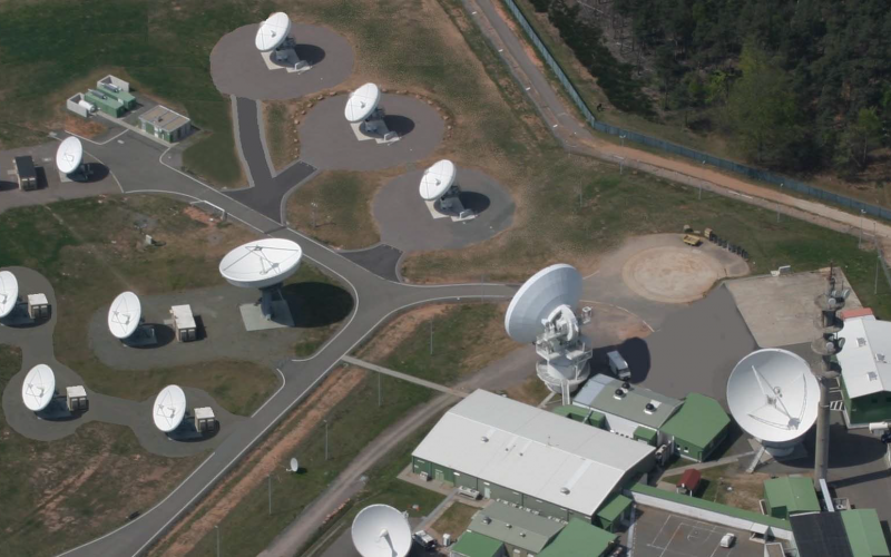 The U.S. Army's Product Lead for Wideband Enterprise Satellite Systems (PL WESS) directs the service's SETS modernization effort, which includes upgrades such as this teleport facility in Landstuhl. Photo courtesy U.S. Army-PM DCATS
