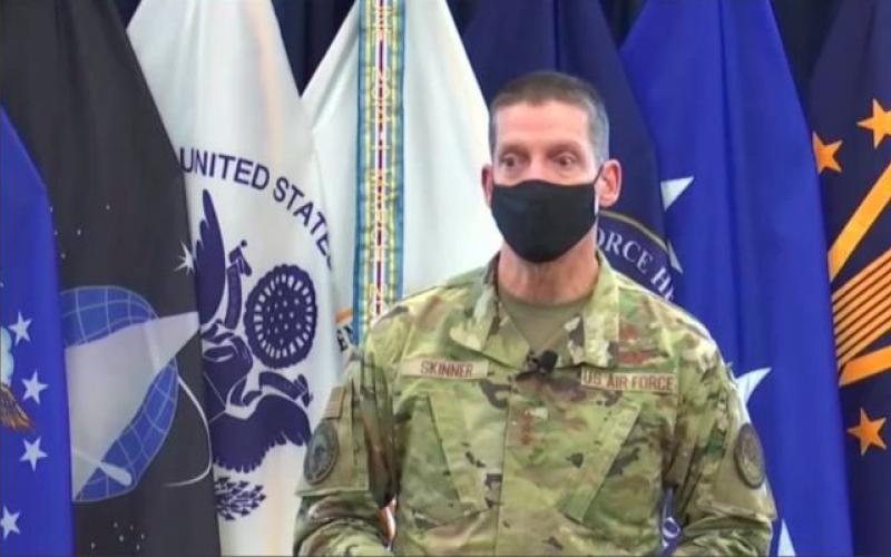 Lt. Gen. Robert J. Skinner, USAF, hosts a virtual town hall with DISA and the JFHQ DODIN. Security is a key element of both organizations as they strive to ensure connectivity across the Defense Department. DISA imagery