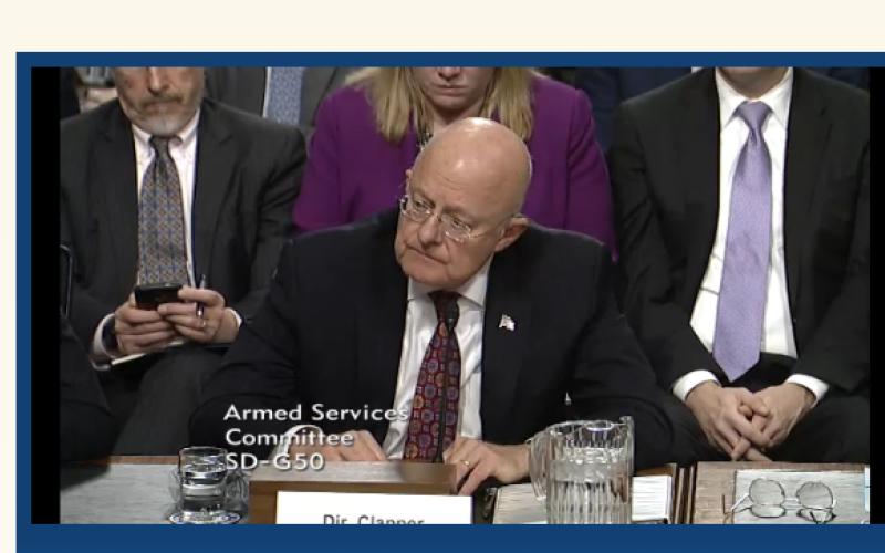 Director of National Intelligence James Clapper tells senators about retaliation options against cyber hackers.