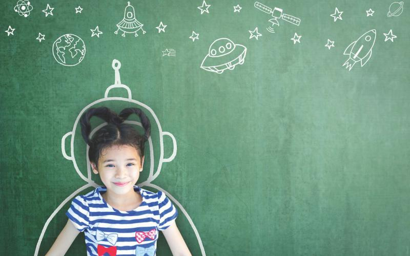 Alamo's grant helps fund Project Artemis, a camp teaching future female astronauts how to plan a moon mission/landing.