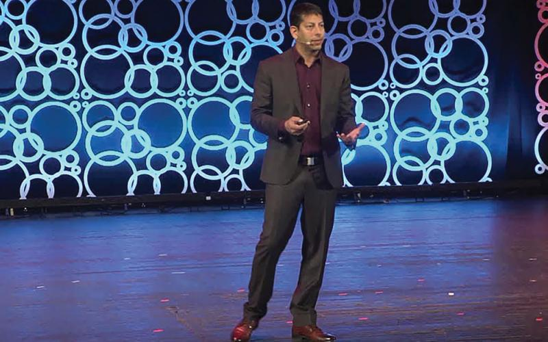 Former NSA hacker Dave Aitel speaks at the S4 security conference in Miami. Photo by courtesy of S4
