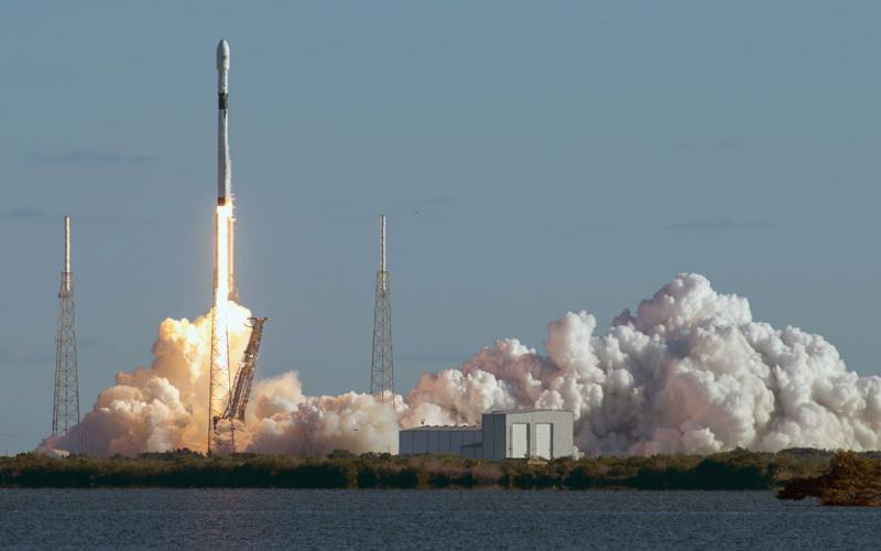 A SpaceX Falcon 9 rocket launches the first of the new generation of modernized, harder-to-hack GPS block III satellites in December 2018. GPS is one of the space-based functions that's increasingly vital to the functioning of the U.S. economy. Credit: GPS.gov