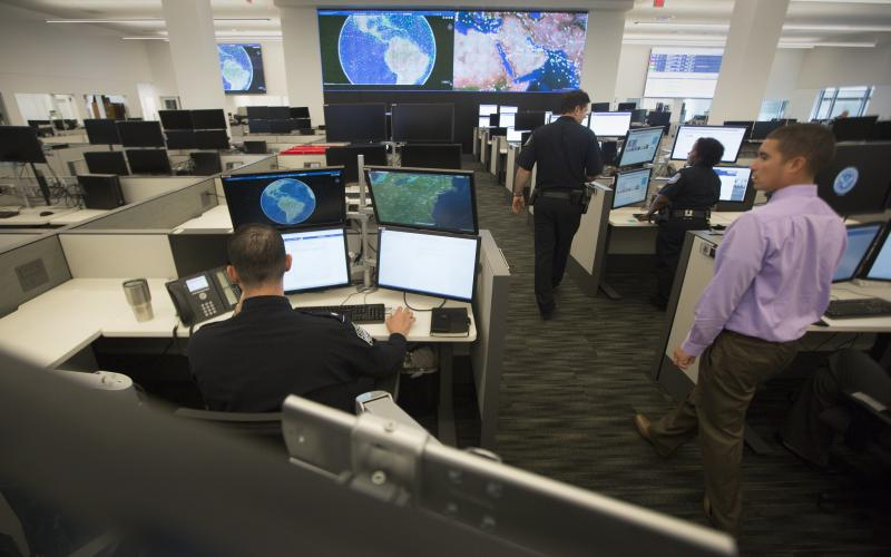 U.S. Customs and Border Protection staff at the National Targeting Center and the National Vetting Center is based in a sensitive compartmented information facility in Sterling, Virginia.  Customs and Border Protection