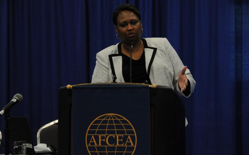 Pamela Whitley, deputy assistant administrator for the FAA's NextGen program, says the agency works closely with the Defense Department to address airspace needs.