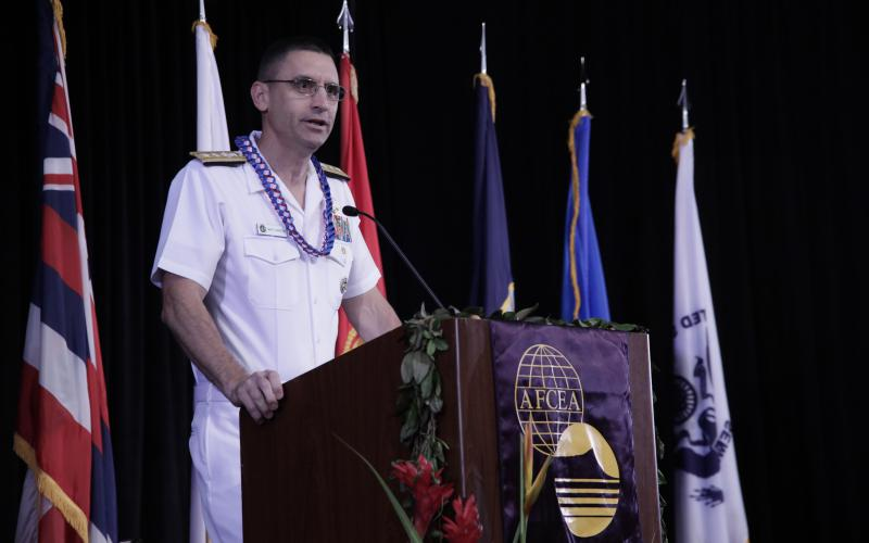 Adversaries today have a vote in setting conditions, so the U.S. Pacific Fleet might have to operate in a degraded environment, says Rear Adm. Matthew J. Carter, USN, deputy commander, Pacific Fleet.