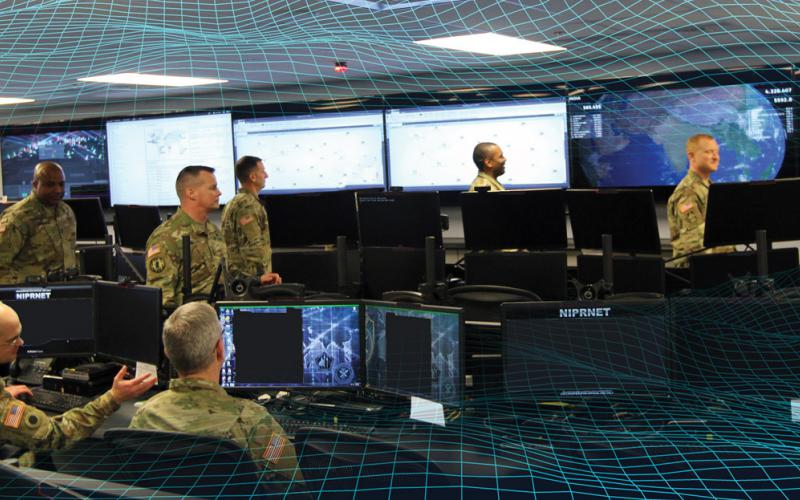 Cyber warriors with the National Guard are sometimes similar to colonial-era militiamen, fighting with whatever technological weapons they have at home or building the tools they need. Alexander Herasymchot/Shutterstock and U.S. Defense Department courtesy photo