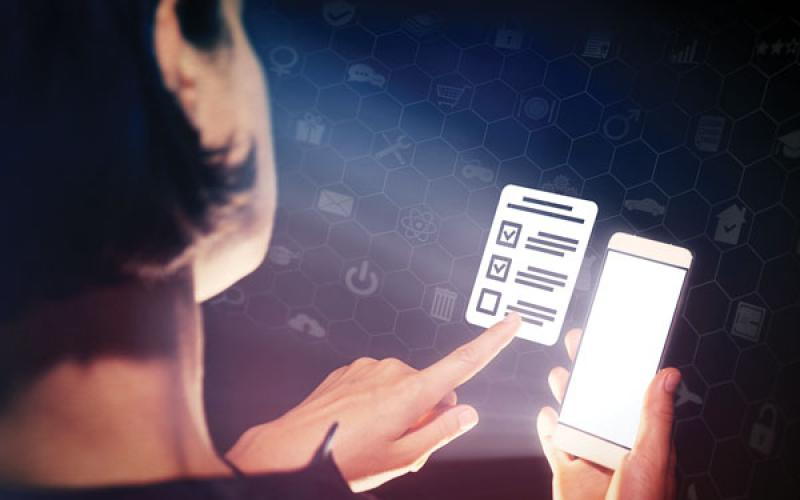 If election authorities can ensure the security of voting technology, in the future, citizens may be able to vote from their mobile devices. Credit: Shutterstock/SvetaZi