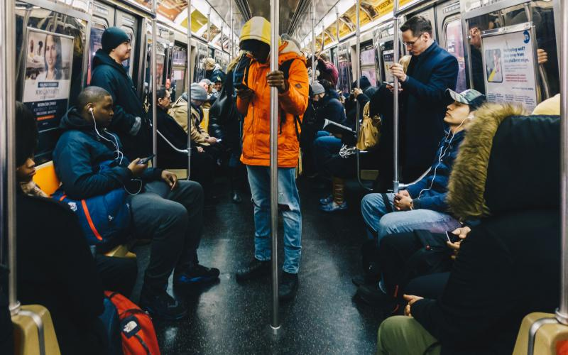 Many people leaving medical centers during the COVID-19 pandemic went to crowded public spaces, such as the New York City subway system, potentially spreading the disease. Researchers hope studying such behaviors will allow officials to implement effective policies.  Clari Massimiliano/Shutterstock