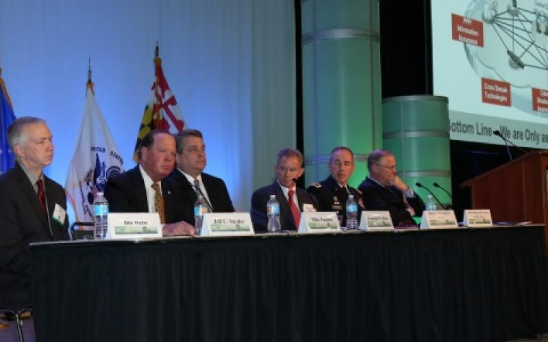 Panelists discuss modernizing U.S. military networks at MILCOM 2016. Photo by Mike Carpenter