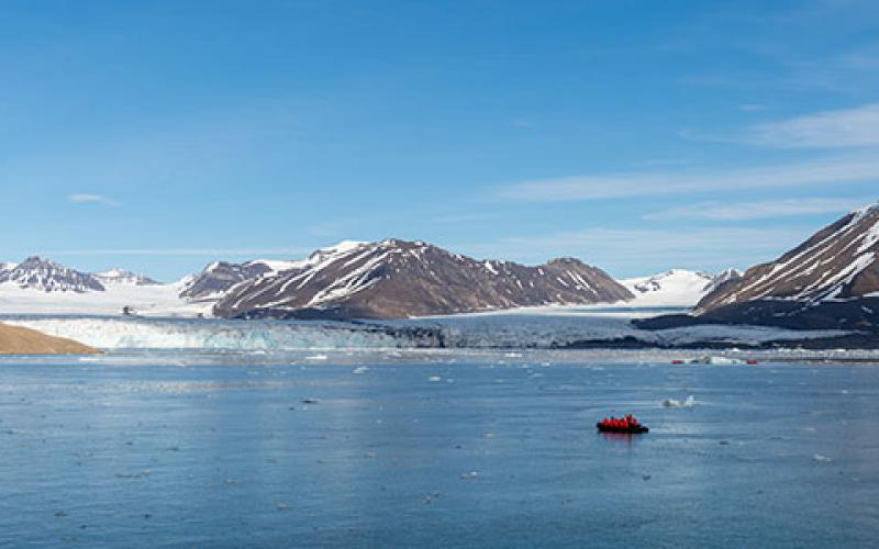 Near-peer adversaries are looking to take advantage in the Arctic region, enabling by ice melt and thinning due to climate change. Credit:Shutterstock/Alexey Seafarer