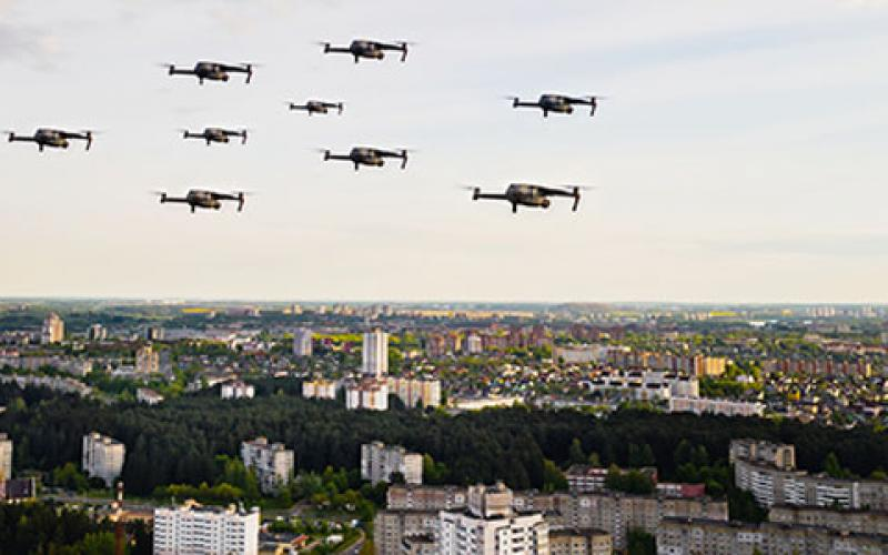 Caption: The U.S. Defense Department has released a new strategy for countering the proliferation of small unmanned aerial systems. The strategy is designed to provide the framework for addressing the threat to within the United States and internationally. Credit: Lobachad/Shutterstock
