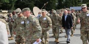 Army leaders and officials visit General Dynamics Mission Systems manufacturing facility in Taunton, Massachusetts, on September 21 to preview the new pilot program the service is pursuing to equip armored vehicles with effective communications technologies in 2025. Credit: PEO C3T