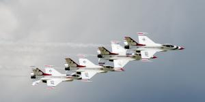 U.S. Air Force Thunderbirds demonstration squadron, who will be performing for the Vectren Dayton Air Show later this month, performed at last year's event, flying over Dayton International Airport in Vandalia, Ohio. The Air Force wants its laboratory research to soar to new heights, and is tapping Oak Ridge Associated Universities to bring in new Ph.D.-level scientists.