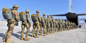 U.S. Army paratroopers from the 173rd Airborne Brigade prepare to board a U.S. Air Force C-130 Hercules aircraft, in preparation for operations in Pordenone, Italy, on February 21. The brigade is the service's Contingency Response Force that responds to the needs of the U.S. European, Africa or Central Commands. The Army's Fiscal year 2020 budget proposal, expected to be presented to Congress on March 12, has to support these operations as well as its modernization efforts. Army Photo by Paolo Bovo