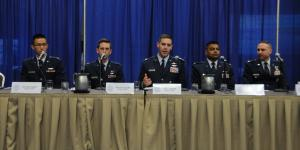 U.S. Air Force leaders discuss the defense of key terrain in cyber operations during a panel at AFCEA's inaugural TechNet Air 2016 symposium in San Antonio.