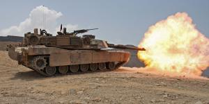 U.S. Marines conduct live-fire training in an M1A1 Abrams tank. Under a $358 million contract from the U.S. Army, General Dynamics will upgrade tanks for the country of Morocco to the situational awareness configuration.