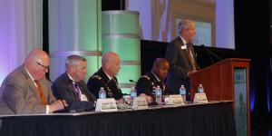 Panelists discuss readiness and training of U.S. military forces at MILCOM 2016. Photo by Mike Carpenter