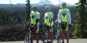 NOVA chapter members (l-r) Tim Hoffman, Paul Scott and Al Mink are riding more than 4,000 miles to build awareness and support for STEM education.