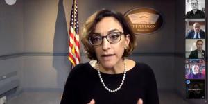Katie Arrington, chief information security officer for Acquisition and Sustainment, U.S. Department of Defense, says there's no point in developing software if it's not secure, during a webinar on securing the federal software supply chain.