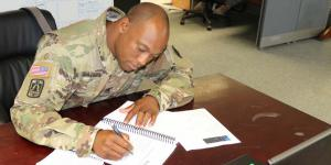 The military offers enlisted and officer personnel many educational opportunities to further their careers. One such option is preparing for and taking the Information Technology Infrastructure Library, or ITIL, exam. Staff Sgt. Timothy Watkins, USA, 52D Signal Battalion, Stuttgart, Germany, is pictured.