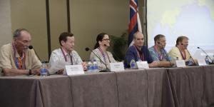 Panelists discuss the Defense Department's digital modernization at TechNet Indo-Pacific 2019 in Honolulu. Credit: Bob Goodwin Photography