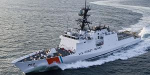 The Coast Guard's national security cutters are 418 feet long and have a top speed of 28 knots.