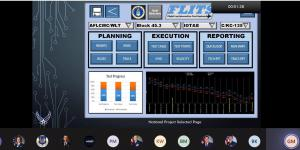 One of two semifinalists of U.S. Air Force's Material Command (AFMC) Spark Tank competition, Gregory Monroe, Air Force Lifecycle and Management Center, created a web-based system to provide coordinated flight test planning. Credit: AFMC