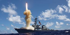 The guided-missile destroyer USS Fitzgerald (DDG 62) launches a Standard Missile-3 (SM-3) as apart of a joint ballistic missile defense exercise. The Missile Defense Agency has awarded Lockheed Martin a $129 million contract modification for work on the Command and Control, Battle Management and Communications system.
