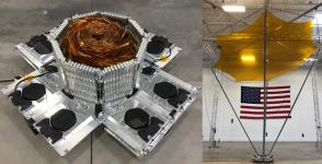 In late February, DARPA is planning to launch a new type of antenna that could enable missions that usually require large satellites, the agency reports. Credit: DARPA
