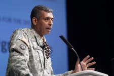 Gen. Vincent Brooks, USA, commanding general of the U.S. Army, Pacific, describes the challenges facing coalition assured interoperability.