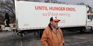 """I never thought that I would have to go to the food bank. We would always donate, because a lot of families out there don't have the luxuries we have. I've been through four furloughs. This is the first time that I've needed to reach out for help,"" says Michael Westmoreland, furloughed Coast Guard worker."