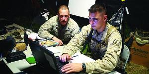 In this file photo, Marines develop their private cloud, focusing on ensuring the right access for the right people.