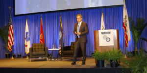 Thomas Modly, undersecretary of the Navy, discusses Chinese mercantalism while speaking at West 2019. Photo by Michael Carpenter