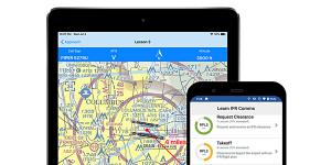 A new tool from West Lafayette, Indiana-based PlaneEnglish provides a training application for new pilots learning to speak with air traffic controllers during all flight phases, from taxi out, to takeoff, to airspace entrance, approach, landing and taxi in, the company says. Credit: PlaneEnglish
