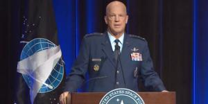 "Gen. John ""Jay"" Raymond, USSF, the chief of Space Operations, is emphasizing the digital nature of the new Space Force."