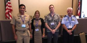 Culture and technology intersect in many ways, and a panel at AFCEA TechNet Asia-Pacific discussed some of the issues that result, from l-r: Rear Adm. Patrick Piercey, USN; Candy Green, Will Bates and Air Commodore Phillip Champion, RAAF.