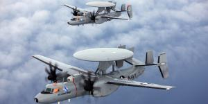 """In its pursuit of open architecture solutions, the U.S. Navy has made """"great strides"""" in applying the Mission Computer Alternative (MCA) platform, which is a Hardware Open Systems Technologies- (HOST-) conforming mission computer. The service is currently testing the MCA/HOST platform in its E-2D Advanced Hawkeye tactical airborne early warning aircraft and in its T-45 training aircraft (above)—and is considering how to advance the solutions to other platforms.  U.S. Navy photo"""