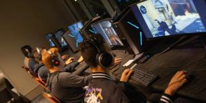 Competitors battle it out during the Montgomery Chapter's Counter-Strike: Global Offensive E-sports.
