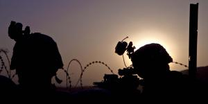 U.S. Army soldiers with the 4th Brigade Combat Team, 101st Airborne Division (Air Assault), perform security duty during a battle drill on Forward Operating Base Lightning, Afghanistan. As officials from the Defense Information Systems Agency (DISA) converge network management tools into a single solution, they intend to move carefully to avoid disrupting communications for warfighters.