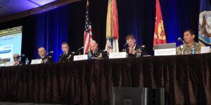Panelists discuss network modernization at TechNet Augusta 2017.