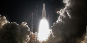 Arianespace successfully launches its fourth Ariane 5 mission of the year, this time carrying a double payload with Intelsat-33e and Intelsat-36—the first time Intelsat blasted off two satellites on one rocket. Photo courtesy of Intelsat.