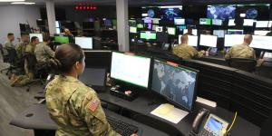 The U.S. Army Cyber Command's 41 Cyber Mission Force teams, including the 780th Military Intelligence Brigade operations center at Fort Meade, Maryland, achieved full operational capability more than a year ahead of schedule. Credit: Steve Stover