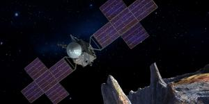 The Deep Space Optical Communications system will be launched into space in 2022 on the Psyche spacecraft, which will explore a massive metallic asteroid. The research program may eventually contribute to a laser communications infrastructure around the red planet. Credit: NASA/JPL-Caltech/Arizona State University/Space Systems Loral/Peter Rubin