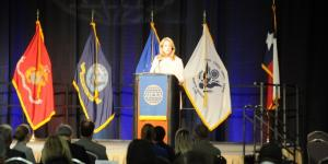 Deborah Lee James, secretary of the U.S. Air Force, addresses the inaugural AFCEA International's three-day TechNet Air 2016 symposium in San Antonio.