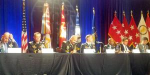 Panelists discuss requirements for innovative solutions, primarily in the cyber realm, at AFCEA TechNet Augusta 2016.