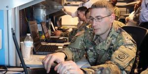 Soldiers analyze network data during a cyber academy class at Fort Bragg, North Carolina. The project manager, defensive cyber operations (PM DCO), is working to boost Army cyber capabilities while shortening the training time line to empower more soldiers for the cyber defense mission. U.S. Army photo