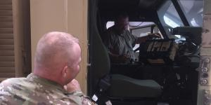 A U.S. Army logistics management specialist instructs a soldier in the installation of the Joint Capabilities Release—Logistics System in an Army vehicle. The Defense Information Systems Agency increasingly is looking to small business for innovative communications and electronics technologies that can be acquired and deployed rapidly.