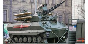 The Uran-9 unmanned ground combat vehicle took part in the 2018 Moscow Victory Day Parade on Red Square earlier this year. Credit: Dianov Boris/Shutterstock.com