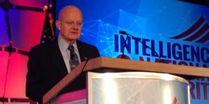 James Clapper, director of national intelligence, leads off a day of discussion at the AFCEA/INSA Intelligence and National Security Summit.